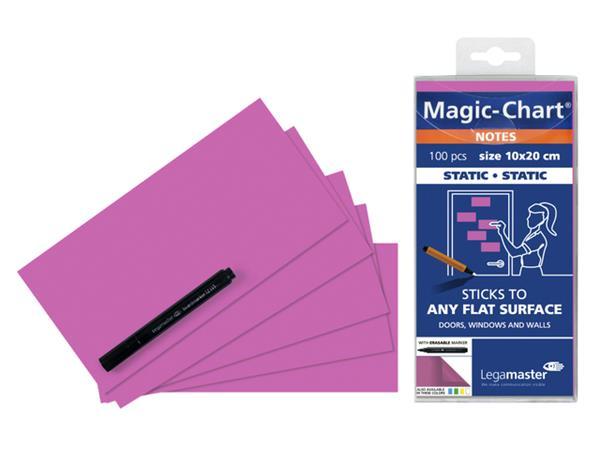 Magic-chart notes Legamaster 10x20 cm roze