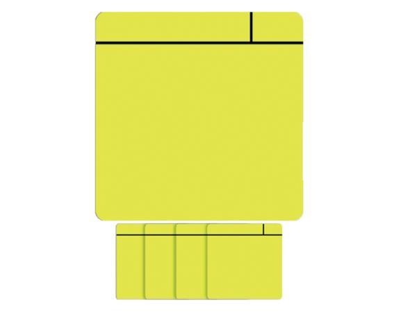 Magneet scrum 75x75mm geel
