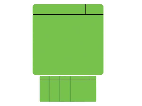 Magneet scrum 75x75mm groen