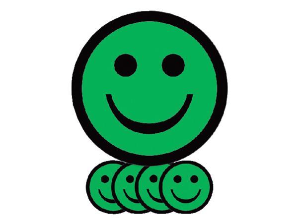 MAGNEET SMILEY 2.5CM EMOTIE BLIJ GROEN