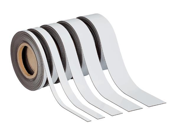 Magnetisch etiketband Maul 10mx30mmx1mm wisbaar wit