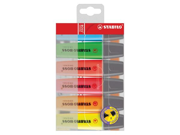 Markeerstift STABILO Boss 70 blister à 6 stuks assorti