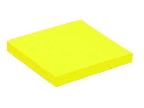 Memoblok Quantore 76x76mm neon geel