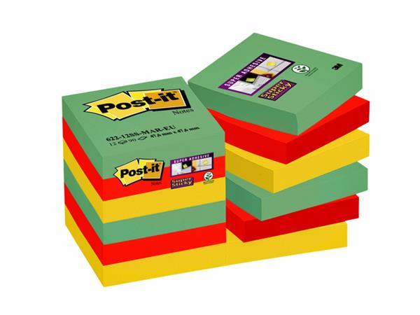 MEMOBLOK 3M POST-IT 622 SUPER STICKY 47.6X47.6 MAR