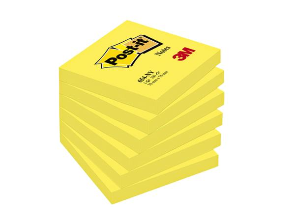 MEMOBLOK 3M POST-IT 654N 76X76MM NEON GEEL
