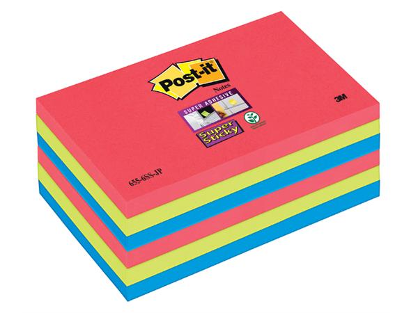MEMOBLOK 3M POST-IT 655-SSJP 76X127MM SS RD/GN/BL