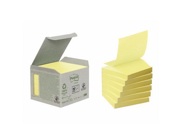 Memoblok 3M Post-it Z-Note R330 76x76mm recycled geel