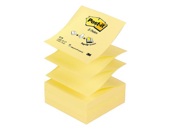 Memoblok 3M Post-it Z-Note R330 76x76mm geel