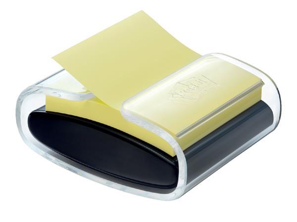 Memoblokdispenser 3M Pro tbv Post-it Z-Notes 76x76mm transparant zwart