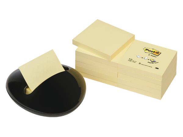 Memoblokdispenser 3M keivormig incl 12 blok Post-it Z-Notes 76x76mm