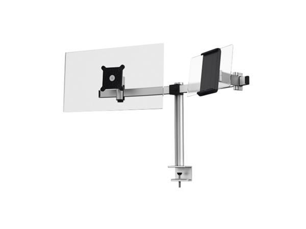 Monitorarm Durable met klem voor 1 scherm en 1 tablet