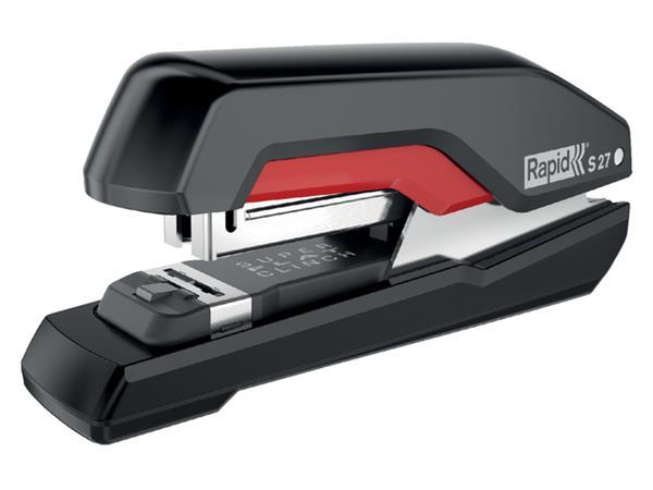 Nietmachine Rapid S27 Halfstrip 30vel 24/6 zwart/rood