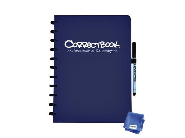 Notitieboek Correctbook A4 lijn 40blz midnight blue
