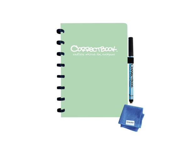 Notitieboek Correctbook A5 blanco 40blz misty mint