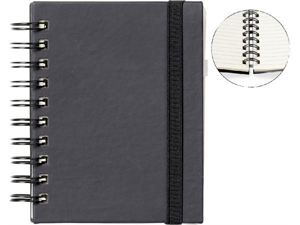 Notitieboek Quantore A6 spiraal zwart
