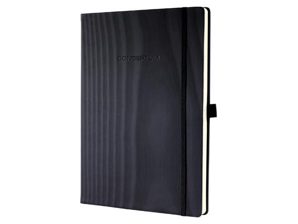 Notitieboek Sigel Conceptum Pure A4+ zwart lijn