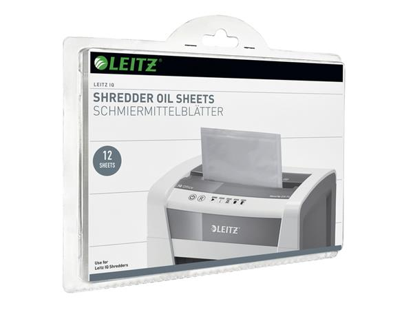 Olie voor papiervernietiger sheet Leitz IQ 12vel