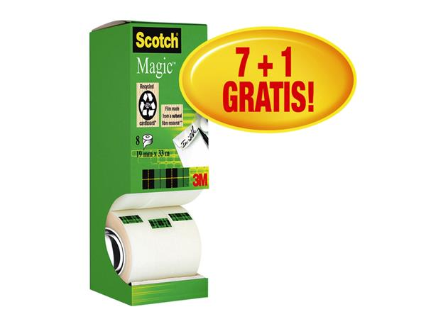 PLAKBAND+3M+SCOTCH+810+19MMX33M+MAGIC+ONZICHTBAAR