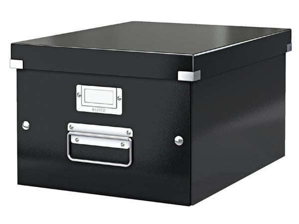Opbergbox Leitz WOW Click & Store 281x200x370mm zwart