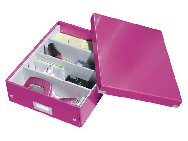 Opbergbox Leitz Click & Store 280x100x370mm roze