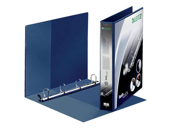 Presentatieringband Leitz SoftClick A4 Maxi 4-rings D-mech 30mm blauw