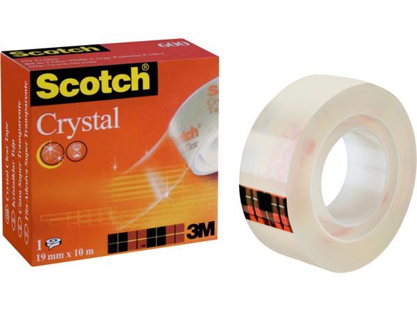 PLAKBAND 3M SCOTCH 600 19MMX10M CRYSTAL CLEAR