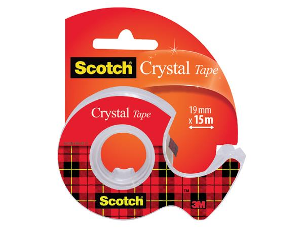 Plakband Scotch Crystal 600 19mmx15m + handafroller