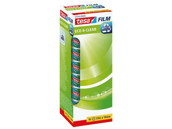 PLAKBAND TESA 57074 19MMX33M ECO&CLEAR 8 ROL