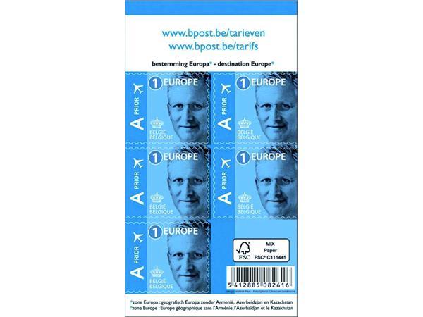 Postzegel Belgie waarde 1 Europa 50 stuks