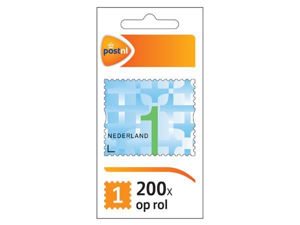 POSTZEGEL+NL+WAARDE+1+ZELFKLEVEND+200+STUKS