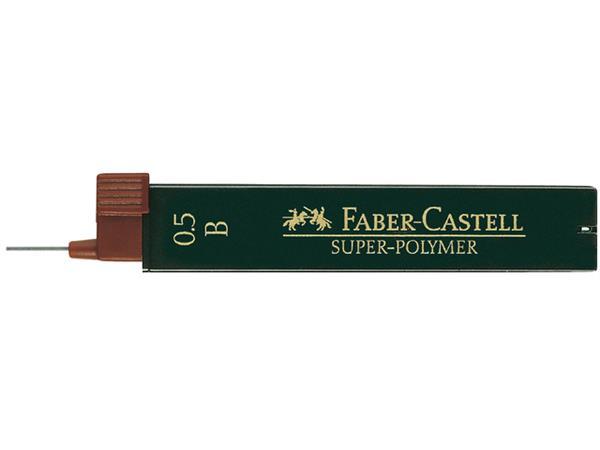 Potloodstift Faber Castell 0.5mm B 12stuks