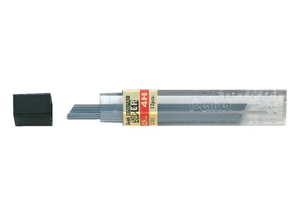 Potloodstift Pentel 0.5mm zwart per koker 4H