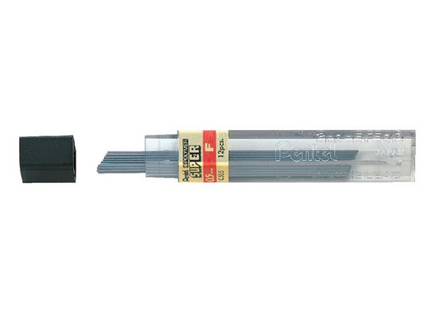 Potloodstift Pentel 0.5mm zwart per koker F