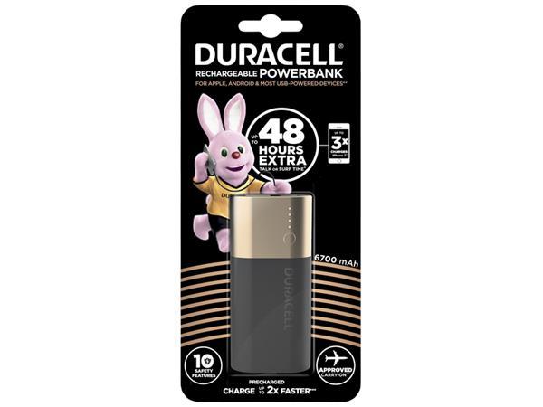 Powerbank Duracell 6700mAh