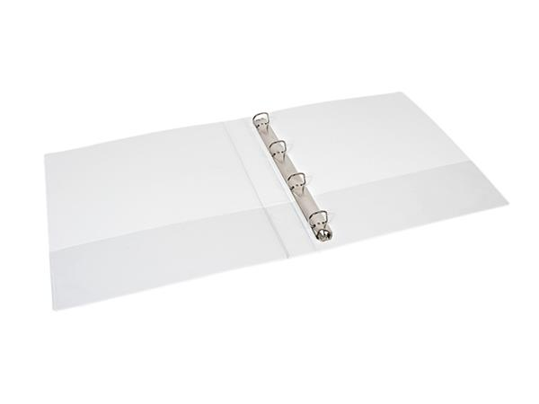 Presentatieringband Quantore A4 4-rings D-mech 30mm wit