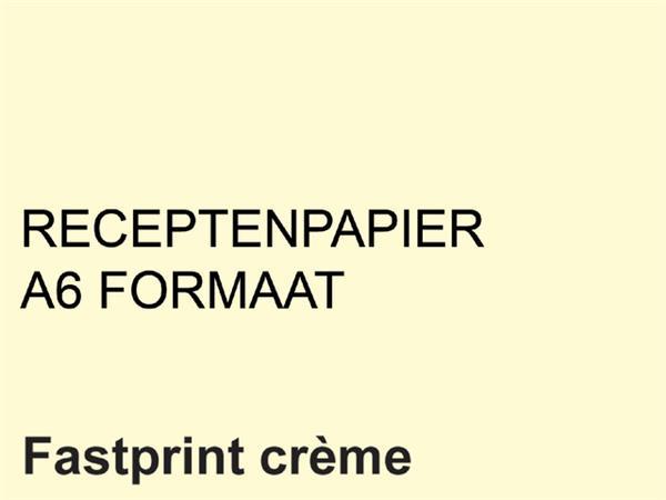 Receptpapier+Fastprint+A6+80gr+creme+2000vel