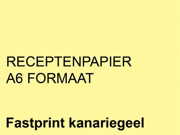 Receptpapier+Fastprint+A6+80gr+kanariegeel+2000vel