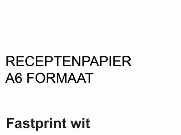 Receptpapier+Fastprint+A6+80gr+wit+2000vel