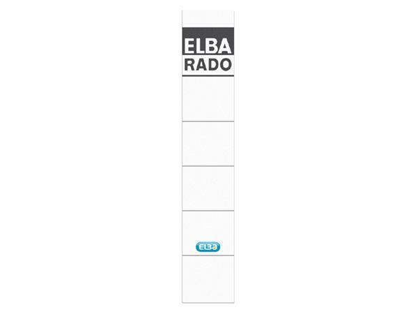 RUGETIKET ELBA 34X190MM WIT/GRIJS