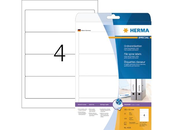 Rugetiket Herma breed 61x192mm zelfklevend wit