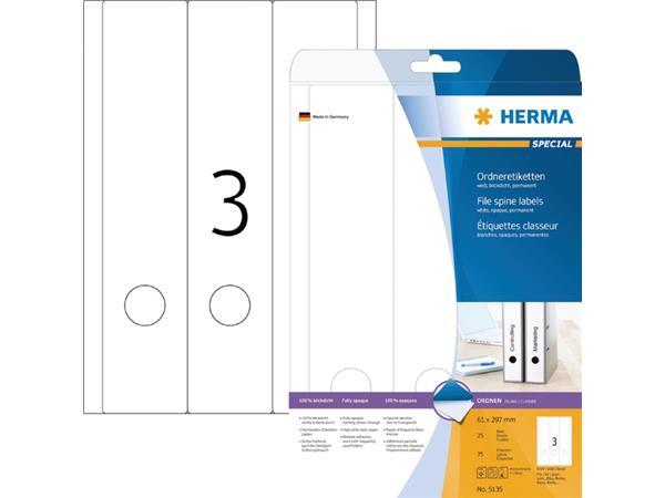 RUGETIKET HERMA 5135 297X61.MM 75ST