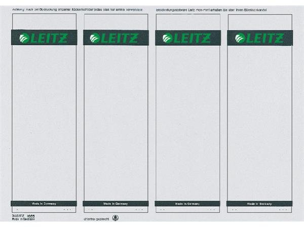 Rugetiket Leitz breed/kort 62x192mm zelfklevend wit