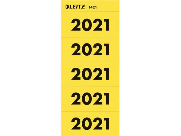 Rugetiket Leitz jaartal 2021 geel
