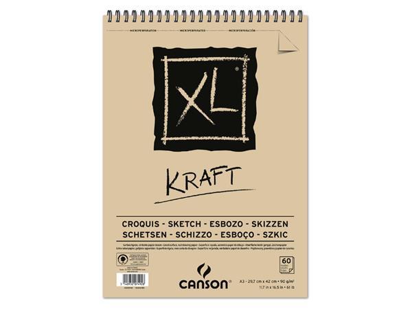 Schetsblok Canons XL Kraft A3 spiraal 60v 90gr