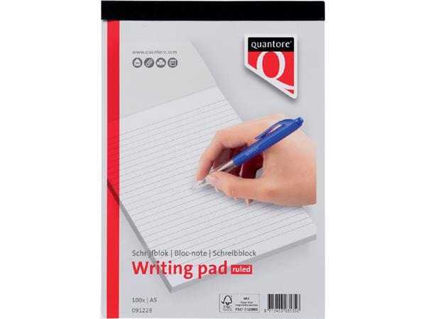 SCHRIJFBLOK QUANTORE BASIC A5 LIJN 60GR
