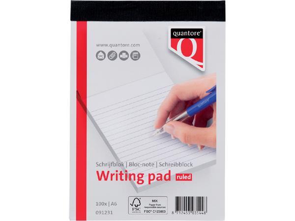 Schrijfblok Quantore A6 gelinieerd