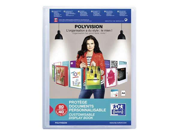 SHOWALBUM OXFORD A4 POLYVISION 40TAS TRANSPARANT