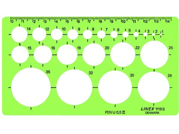 SJABLOON LINEX 1118S CIRKELS MET INKTVOETJES