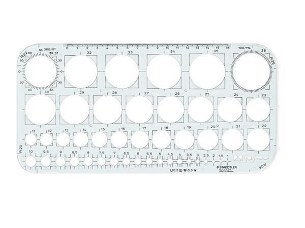 Sjabloon Staedtler 576 cirkel 1-36mm