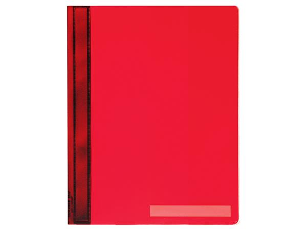 Snelhechter Durable 2510 A4 PVC extra breed rood